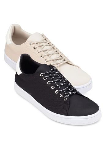 二入組異材質拼接休閒鞋, zalora 包包 ptt鞋, 休閒鞋