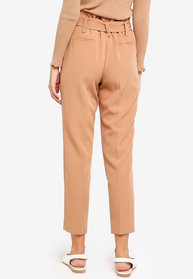 Dorothy Tie Trousers Camel Light Tapered Perkins Brown qqr4gH