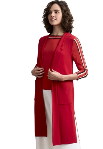 22 Factor red Hazel Sleeveless Open Trench 56C6FAAF28CF91GS_1