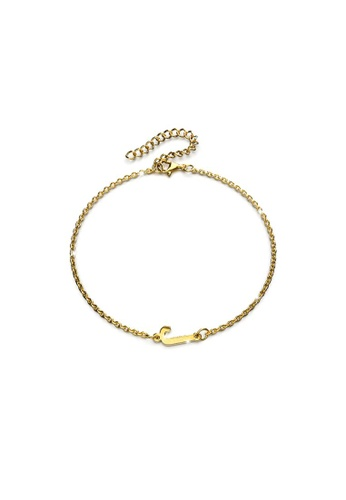 Bullion Gold gold BULLION GOLD Bold Alphabet Letter Initial Charm Bracelet in Gold Tone - J 54B77AC03EED44GS_1