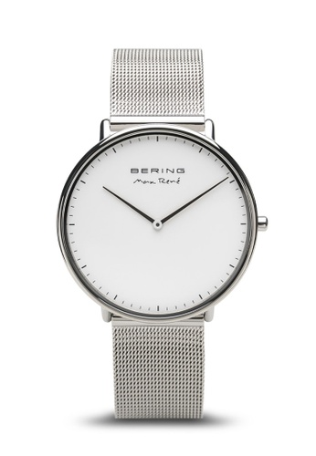 Bering silver Bering Max Rene white 38 mm Male Watch (15738-004) 4550EAC86D6A65GS_1