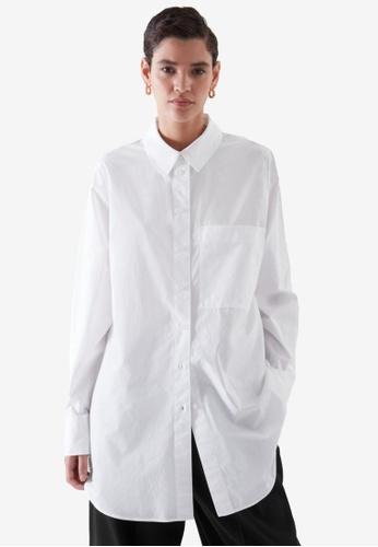 Cos white Oversized Tailored Shirt 2536FAA393EEAEGS_1