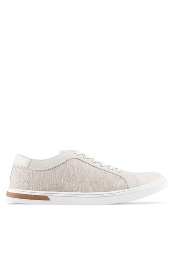 ZALORA beige Mix Material Sneakers AD1C8SHB1A75B9GS_1