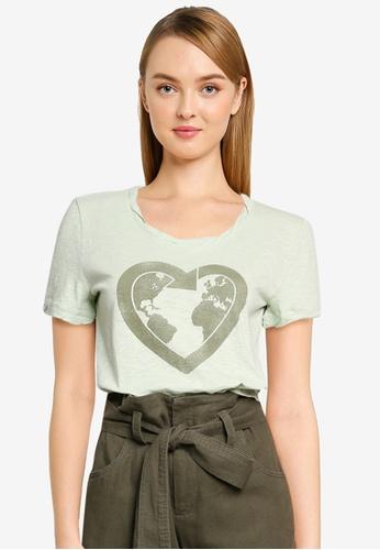 GAP green Organic Cotton Graphic T-Shirt 8F424AA7F71D99GS_1