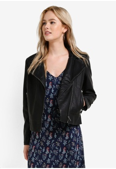 Buy Leather Jackets For Women Online | ZALORA Singapore