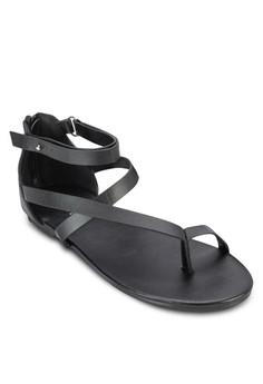 Sonia 夾趾交叉多帶平底涼鞋