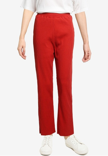 LOWRYS FARM red Ribbed Knit Pants 23884AACA3DAE0GS_1