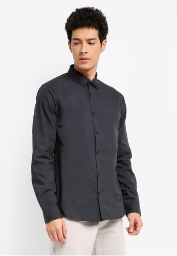 Cotton On black Slim Smart Shirt BPTCHAA0000080GS_1