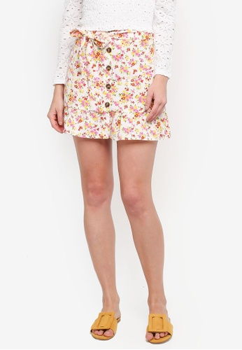 a5193b1f1 Buy TOPSHOP Floral Tie Button Skirt | ZALORA HK