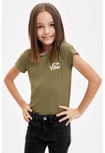 DeFacto green Short Sleeve Round Neck T-Shirt 1370BKA8000AA5GS_1