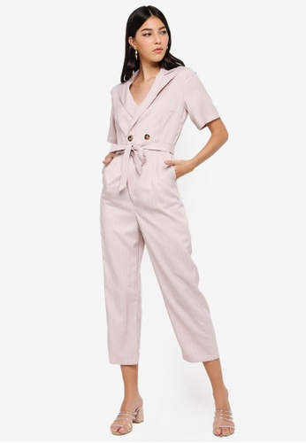 ZALORA pink Blazer Jumpsuit E889BAAF1E7840GS_1