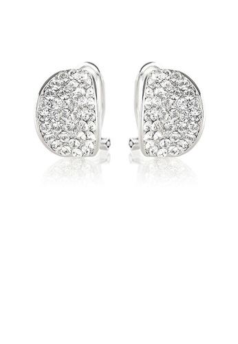 Glamorousky silver Elegant Earrings with Silver Austrian Element Crystals E688DACDA199E0GS_1