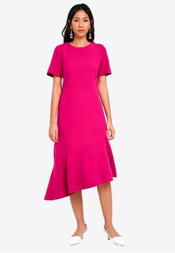 CLOSET pink Asymmetric Frill Dress 56DFBAA9B2B571GS_1
