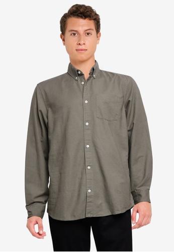 GAP green Long Sleeve Oxford Shirt D4DA9AA124A91AGS_1