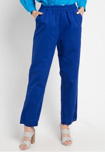 OMARA blue Valeria Pants DB6F5AA3C97854GS_1