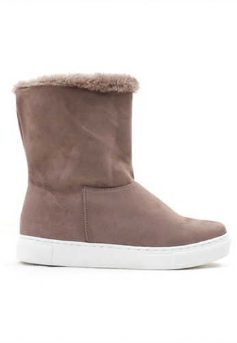 Crystal Korea Fashion 韓國製冬季麂皮絨內增高翻邊短靴 B8775SHCD5AEB6GS_1