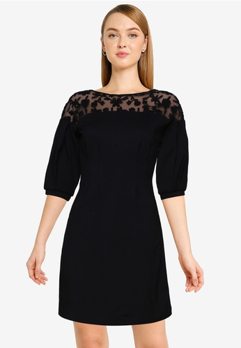 French Connection black Sashi Embroidery Dress 7D8C6AA3EF9119GS_1