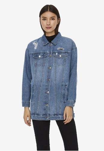 Vero Moda blue Olivia Denim Jacket D1CF2AAA101E71GS_1