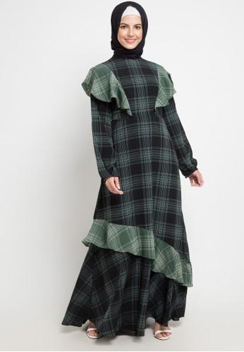 Allea by Itang Yunasz green Eliza Dress 0FCC1AACAE7FCAGS_1
