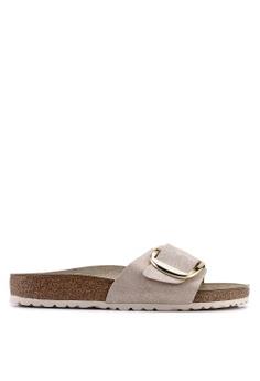 a226556930f Birkenstock beige Madrid Big Buckle Washed Metallic Sandals  3C121SH2B8BC4BGS 1