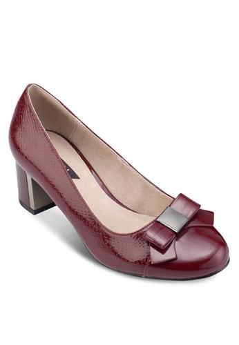 蝴蝶結esprit outlet 桃園金屬粗跟鞋, 女鞋, 鞋