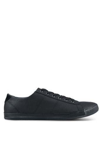 TOPMAN black Black Copper Lace PU Trainers TO413SH0SJLDMY_1
