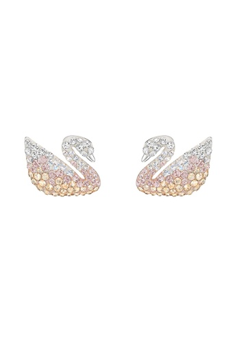 Swarovski silver Iconic Swan Pendant Earrings 83503AC8265C0CGS_1