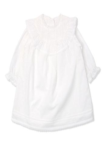 Organic mom white Organic Cotton Rollie Lace Dress 32BE2KA21AAC36GS_1