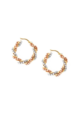 TOMEI gold TOMEI Spellbindingly Enthralling with Verve  Earrings, Yellow Gold 916 (IQ-X2WE190897-3C) 16056ACABCFE4BGS_1