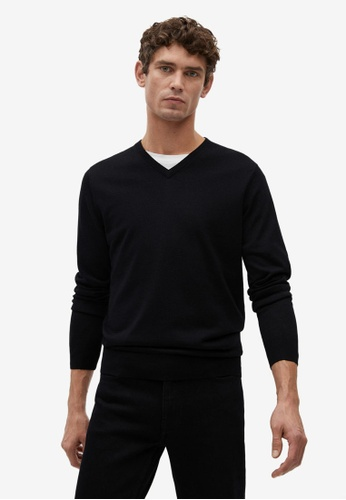 MANGO Man 黑色 100% Merino Wool Washable Sweater B18CEAA646FA17GS_1