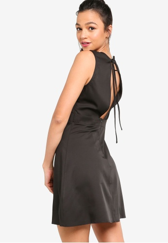 Something Borrowed black Open Back Fit & Flare Dress BCF09AAE13D128GS_1