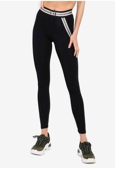 fc15a7167fbcf Ivy Park black Metallic Stripe Elastic Leggings A2DD4AA87A338EGS_1