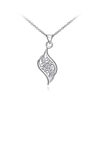Glamorousky white Fashion Elegant Geometric Pendant with White Cubic Zircon and Necklace 0A1EEACBE24AA1GS_1