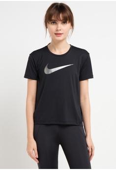 c1ea05670 Nike black As Women's Nike Miler Short Sleeves Hbr1 Top B3F06AA5F06F72GS_1