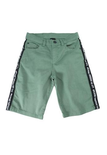 LC Waikiki green Boy's Gabardine Woven Bermuda Shorts EE9EBKAD4F7687GS_1