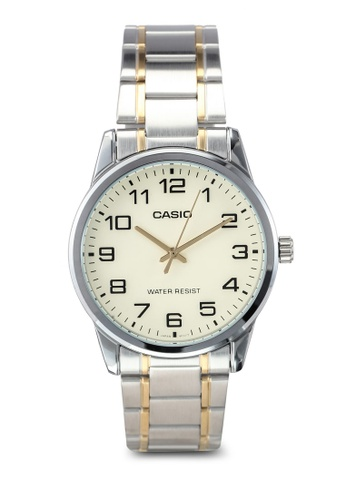 Casio silver and gold Casio Enticer Analog Green Dial Women's Watch CA843AC0T07VMY_1