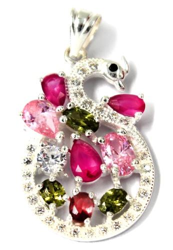Venice Jewelry silver Crystallized Flamingo Pendant VE564AC61ZEOPH_1