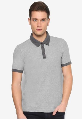 對比色滾邊短袖POLesprit outlet 桃園O衫, 服飾, Polo衫