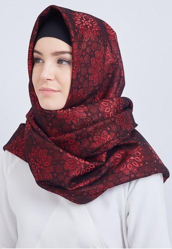 duapola red duapola Double Lace Glitter Hijab 3B30FAAC34582CGS_1