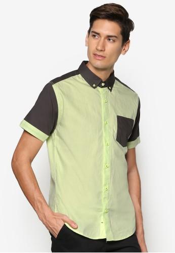 拼色esprit hong kong短袖襯衫, 服飾, 素色襯衫
