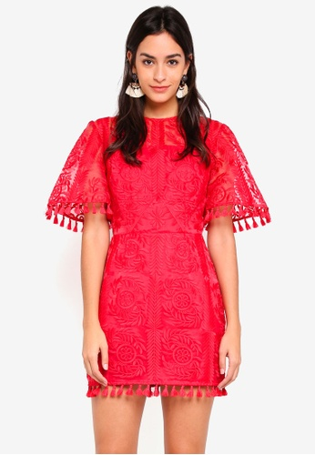 Finders Keepers red Spectrum Mini Dress 4C447AA6B97934GS_1