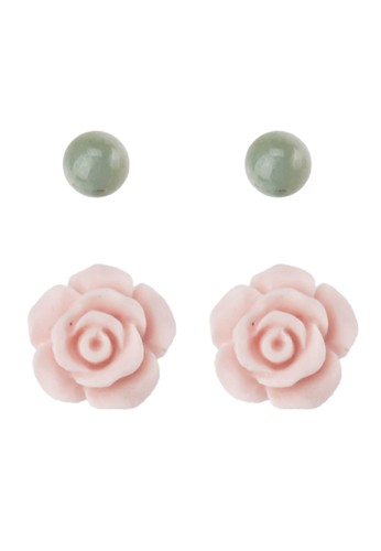 La Maison D'Evolette green and brown Rosalinda Earrings with Amazonite Gemstone 90798ACB11F0E6GS_1