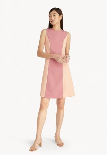 Pomelo pink Two Tone A Line Sleeveless Dress - Pink 7B79EAA20690F7GS_1