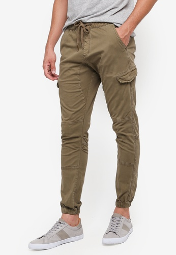 Indicode Jeans 綠色 Levi Drawstring Cargo Jogger Pants 775C0AACDF5FC8GS_1