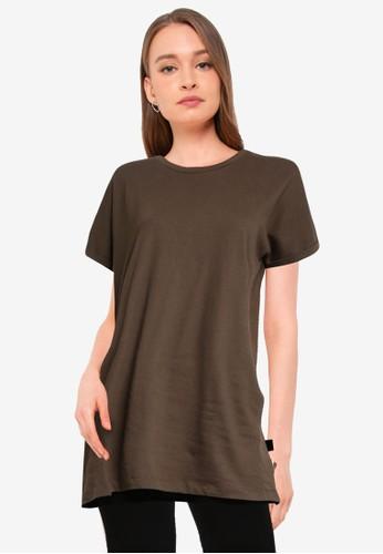 Miss Selfridge green Khaki Recycled Pocket T-Shirt Dress B06B7AAAA98AFEGS_1