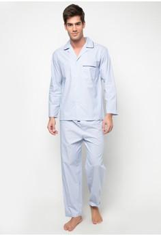 Men's Woven Pajama Set