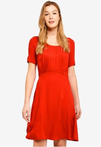 ICHI red Bianca Dress 06365AAF277C9CGS_1