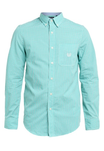 Chaps green Chaps Long Sleeve Checked Shirt FD7B9AA0CDCD88GS_1