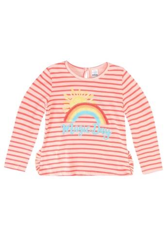 LC Waikiki orange Baby Girl's Striped Cotton T-shirt B4E1BKA51ECB11GS_1