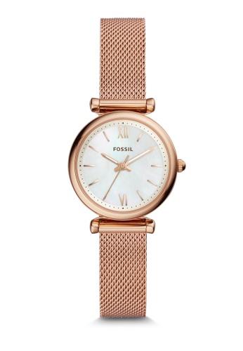 Fossil 金色 Carlie 行針手錶 ES4433 24ABFACED8807CGS_1